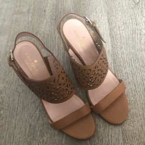 Kate Spade Brown Block Heel Sandals Size 7